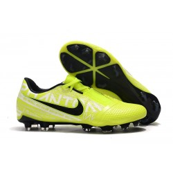 Nike Phantom VNM Elite FG Amarillo Fluorescente Blanco Obsidiana