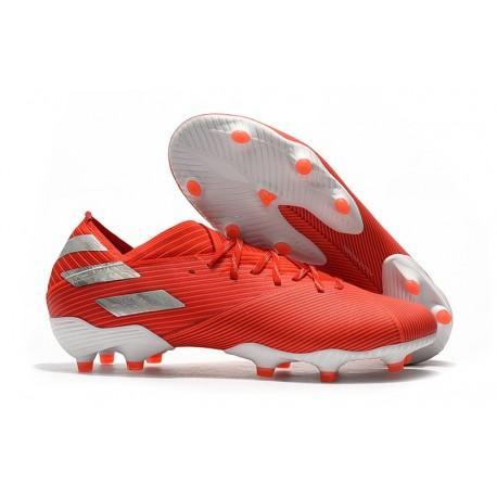 Zapatillas de Futbol adidas Nemeziz 19.1 FG - Rojo Plata