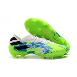 Zapatillas de Futbol adidas Nemeziz 19.1 FG - Blanco Verde Azul