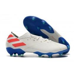 Zapatillas de Futbol adidas Nemeziz 19.1 FG - Blanco Rojo Azul