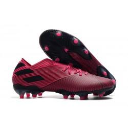 Zapatillas de Futbol adidas Nemeziz 19.1 FG - Rosa Negro