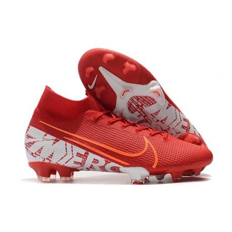 Zapatillas Nike Mercurial Superfly VII Elite FG Rojo Blanco