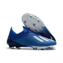 adidas Predator 19+ FG Bota de Fútbol Azul Blanco