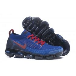 Nike Air VaporMax 2 Flyknit 2018 Para Hombres - Azul Rojo