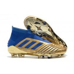 adidas Predator 19+ FG Tacos de Futbol - Oro Azul