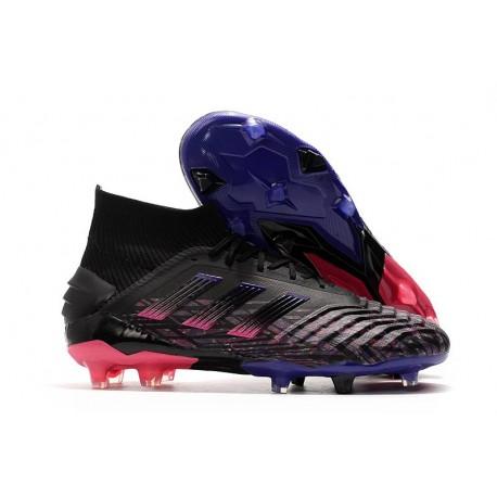 adidas Predator 19+ FG Tacos de Futbol - Negro Azul Rosa