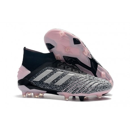 adidas Predator 19+ FG Tacos de Futbol - Gris Plata Rosa