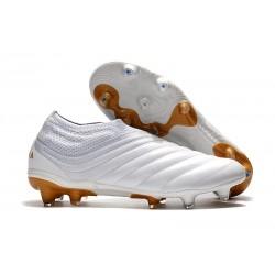 Botas de Fútbol adidas Copa 19+ FG Hombres Blanco Oro
