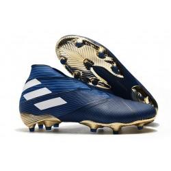 adidas Nemeziz 19+ FG - Botas de fútbol para hombre Azul Blanco