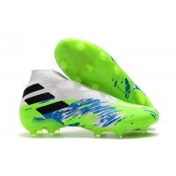 adidas Nemeziz 19+ FG - Botas de fútbol para hombre Blanco Verde