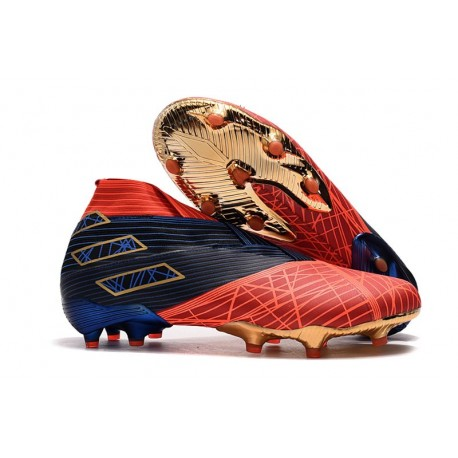 adidas Nemeziz 19+ FG - Botas de fútbol Spider-Man Rojo Negro