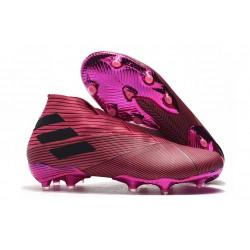 adidas Nemeziz 19+ FG - Botas de fútbol para hombre Rosa Negro