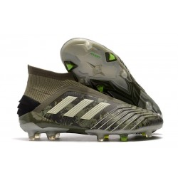 adidas Predator 19+ FG Tacos de Futbol - Verde Arena Amarillo