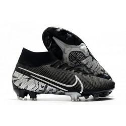 Nike Botas de Fútbol Mercurial Superfly 7 Elite FG Negro Gris Metalizado