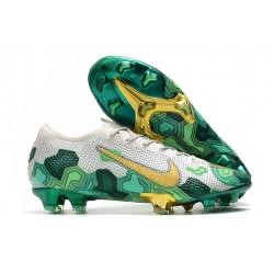 Nike Mercurial Vapor 13 Elite FG Botas -Mbappe Gris Verde Oro