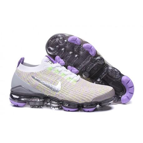 Nike Zapatos Air VaporMax Flyknit 3 Violeta Plata