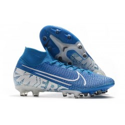 Zapatos Nike Mercurial Superfly VII Elite AG-Pro Azul Blanco