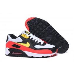 Botas Nike Air Max 90 Blanco Rojo Negro