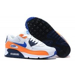 Botas Nike Air Max 90 Blanco Naranja Azul