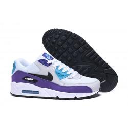 Botas Nike Air Max 90 Blanco Violeta Azul