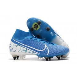 Nike Mercurial Superfly 7 Elite SG-Pro Anti-Clog Azul Blanco
