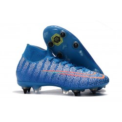 Nike Mercurial Superfly 7 Elite SG-Pro Anti-Clog Azul Rojo