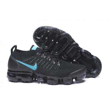 Zapatillas Nike Air VaporMax 2.0 Flyknit Mujer Negro Azul