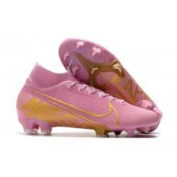 Nike Botas de Fútbol Mercurial Superfly 7 Elite FG Rosa Oro
