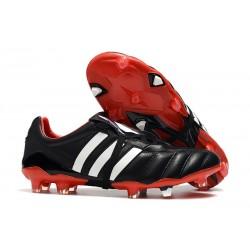 Adidas Predator Mania FG Predator Tacos de Futbol - Negro Rojo Blanco