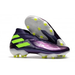 Zapatos de Fútbol adidas Nemeziz 19+ FG Violeta Verde