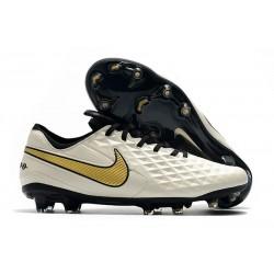 Bota de Fútbol Nike Tiempo Legend VIII Elite FG Blanco Oro