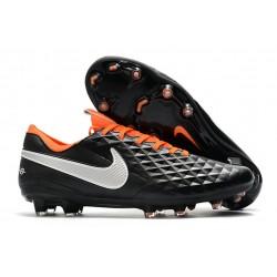 Bota de Fútbol Nike Tiempo Legend VIII Elite FG Negro Naranja Blanco