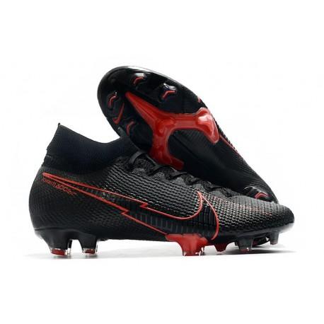 Tacos de Futbol Nike Mercurial Superfly VII Elite FG Negro Rosso