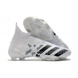 adidas Bota de Fútbol Predator Mutator 20+ FG Blanco Negro