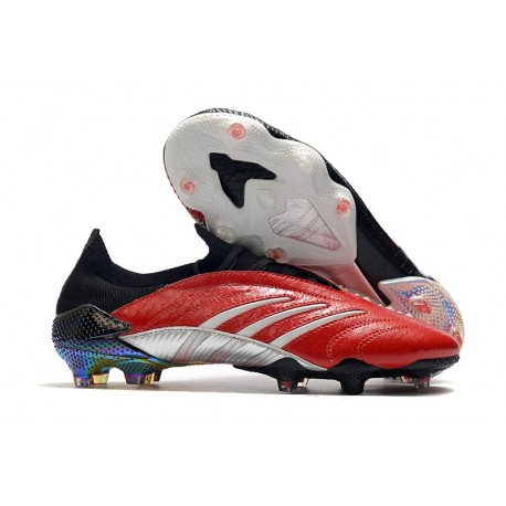 Zapatos de fútbol adidas Predator Archive FG Rojo Plata Negro