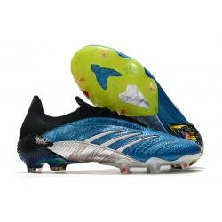 Zapatos de fútbol adidas Predator Archive FG Azul Negro Blanco