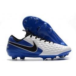 Nike Zapatos de Fútbol Tiempo Legend 8 Elite FG Blanco Azul Negro