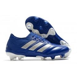 Zapatos de fútbol adidas Copa 20.1 FG Azul Royal Plateado metalizado