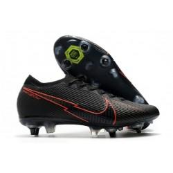 Nike Mercurial Vapor 13 Elite SG-Pro Anti Clog Negro Rojo