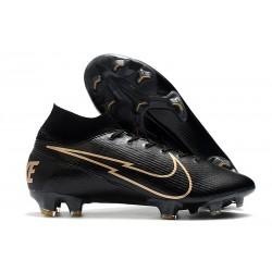 Nike Botas Mercurial Superfly 7 Elite FG Negro Oro
