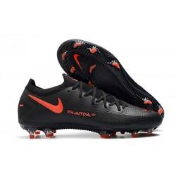 Nike Zapatos de Futbol Phantom GT Elite FG Negro Rojo Chile Gris