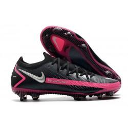 Nike Zapatos Futbol Phantom GT Elite FG Negro Plateado Explosión Rosa