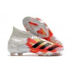 adidas Predator Mutator 20.1 FG Zapatos de Fútbol Blanco Negro Pop