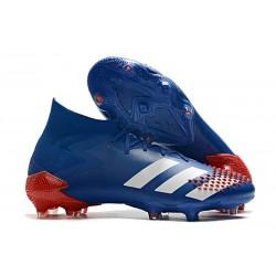 adidas Predator Mutator 20.1 FG Zapatos de Fútbol Azul Blanco Rojo