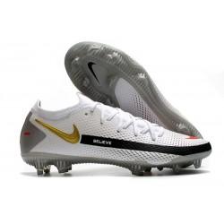 Nike Zapatos de Futbol Phantom GT Elite FG Blanco Negro Rojo