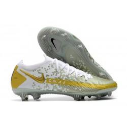 Nike Zapatos de Futbol Phantom GT Elite FG Blanco Oro