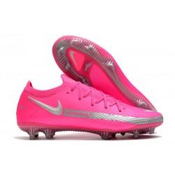 Nike Zapatos de Futbol Phantom GT Elite FG Rosa Plata