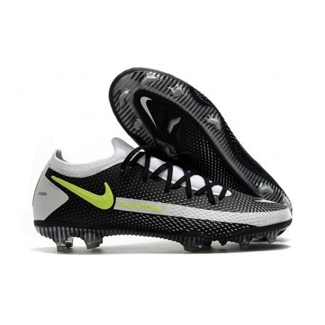 Nike Nuevo 2021 Phantom GT Elite FG Negro Gris Verde