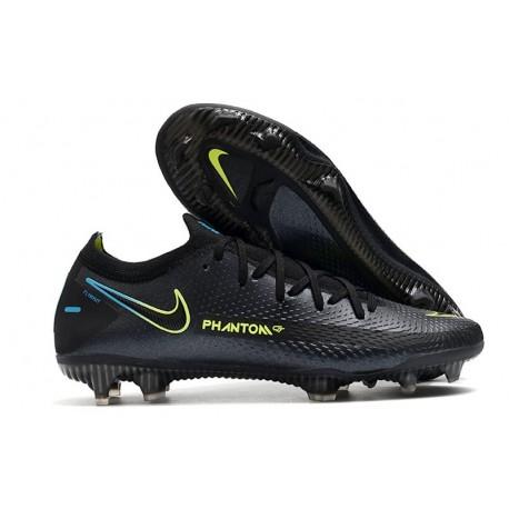 Nike Nuevo 2021 Phantom GT Elite FG Negro Verde
