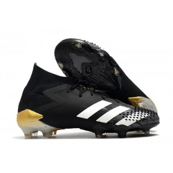 adidas Predator Mutator 20.1 FG Zapatos de Fútbol Negro Blanco Dorado metalizado